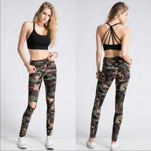 Pants - Camo Leggings Yoga Pants